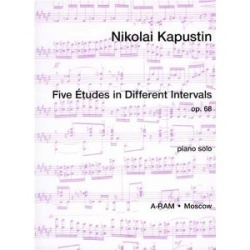5 Etudes in Different Intervals, Op. 68 - Piano