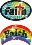Faith Christian Sparkle Stickers