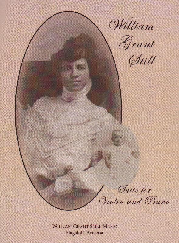 William Grant Still Suites, violin, piano Cover Art